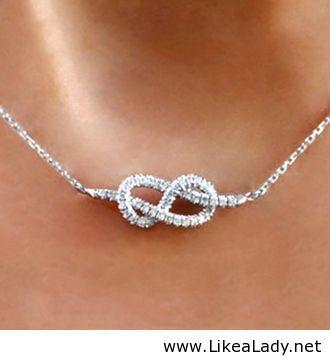 Infinity Knot Diamond Necklace WANT
