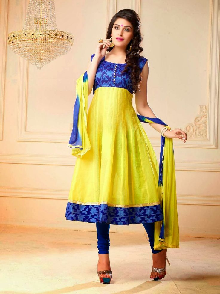 #Dailywearsuits Make Elegance, part of your daily life style with daily wear salwar suit collection on Ethnic Station http://www.ethnicstation.com/salwar-kameez/silk-suits/yellow-embroidered-salwar-suit-21
