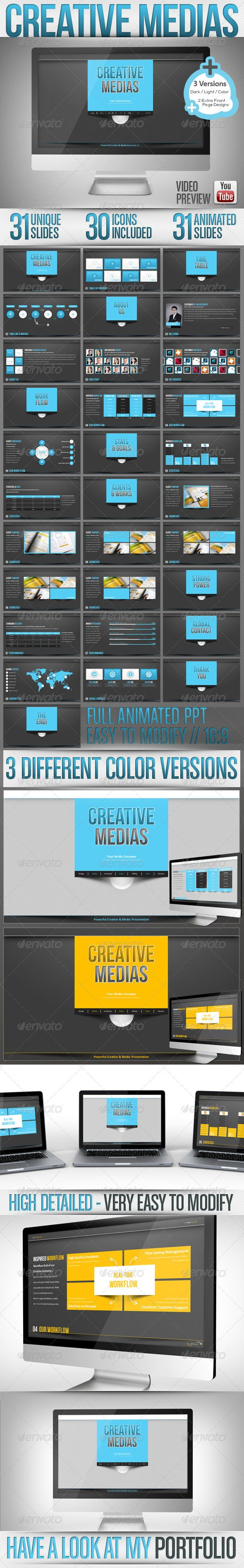 Creative Media - Powerpoint Dark & Light / Full HD Get the source files for download: http://graphicriver.net/item/creative-media-powerpoint-dark-light-full-hd/3396500