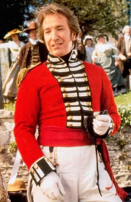 alan rickman as Colonel Christopher Brandon from Jane Austen's Sense & Sensibility