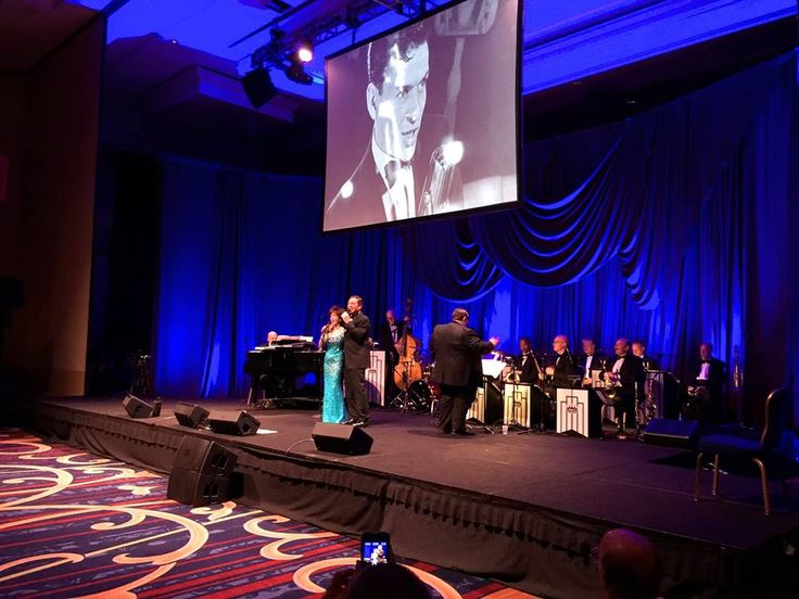 On stage with Joe Piscopo during the NIAF 40th Anniversary Gala ♪ ♩♫
