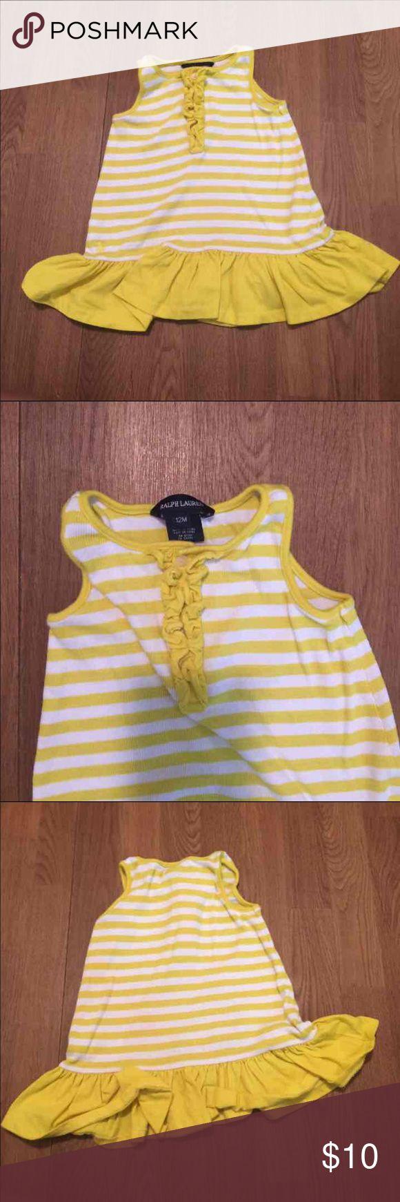 Ralph Lauren Dress Yellow striped dress Ralph Lauren Dresses