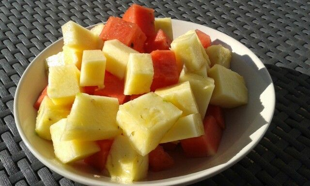 #Water melon #pineapple salad