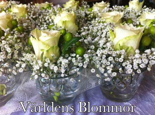 Bordsdekoration till Bröllop, Dop eller Fest  Bröllops arrangemang och allt som hör till ett Bröllop Världens Blommor Landskrona 0418 65 11 59  VI FINNS PÅ: PINTEREST FACEBOOK TWITTER INSTAGRAM GOOGLE PLUS GOOGLE MAPS YOUTUBE WWW.VARLDENSBLOMMOR.SE