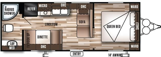 "2016 New Forest River Wildwood 241QBXL Travel Trailer in Alabama AL.Recreational Vehicle, rv, 2016 Forest River Wildwood241QBXL, 2"" wood Blinds (Living Room), 6 Gal. DSI Water Heater, Cabinet Doors at Dinette Seats, CENTRAL SWITCH COMMAND CENTER, Coach-Net Roadside Assistance, Colored LED Awning Lights, Double door refrigerator, Ducted A/C, DVD, MP3, CD, FM Stereo, Foot Flush Toilet, Full Extension Drawer Guides, LED Awning Strip, NITROGEN FILLED TIRES, Outside Speakers, Pass Thru Storage…"