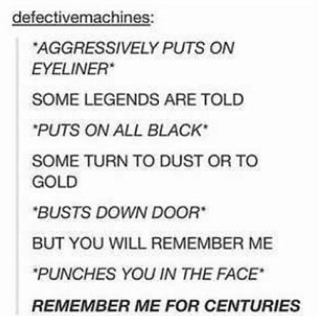"""how I feel every time I listen to that song.   """"Centuries"""" by Fall Out Boy"""