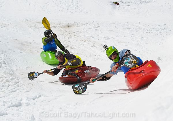 Snow Kayaking is Fun Fast Extreme. Check these crazy @ss vids out... Click Photo :D