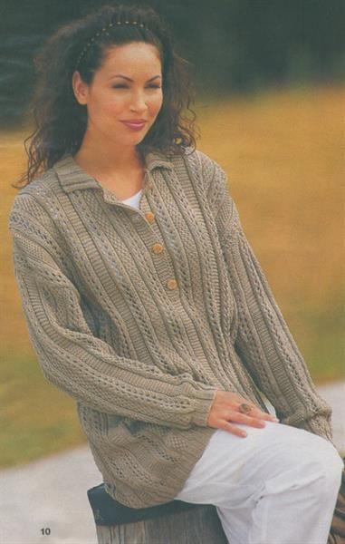 Схемы вязаных свитеров большие размеры