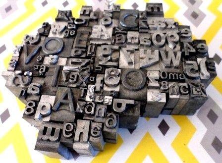Oude drukletters | By Kris webshop en workshops