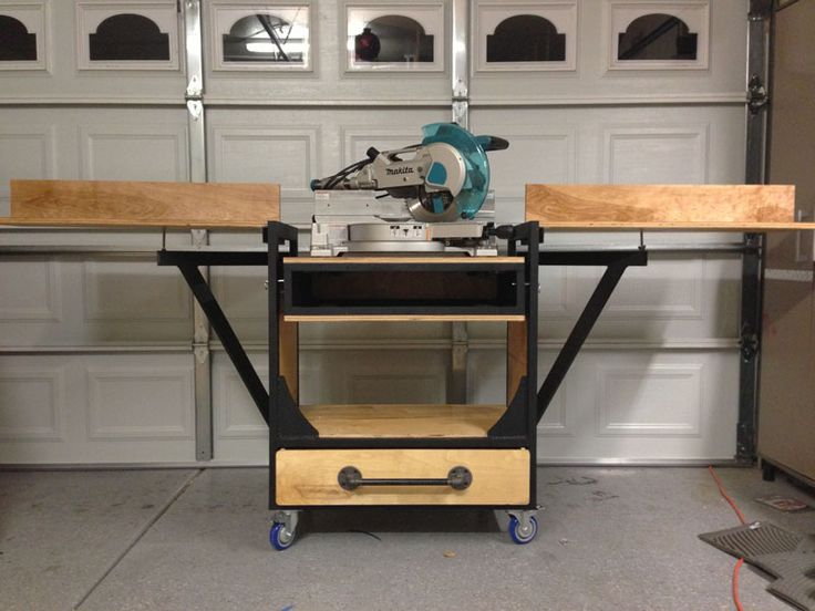 First Post My Miter Saw Work Bench The Garage Journal