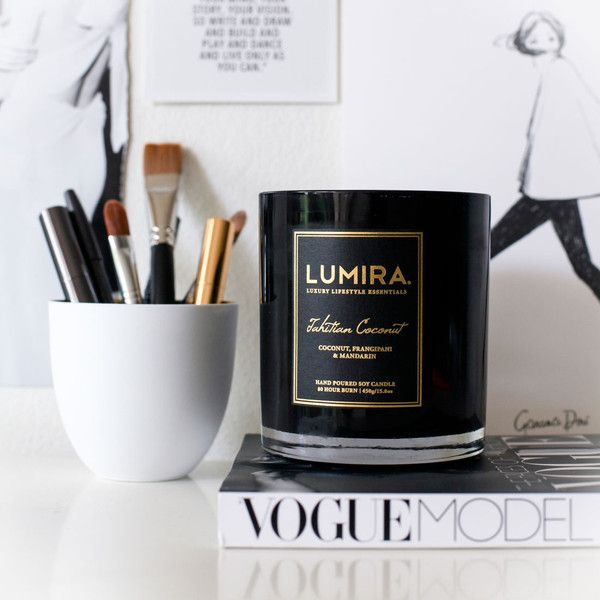 Tahitian Coconut. Shop now at The Candle Library. Lumira candles are hand crafted using 100% natural soy wax.
