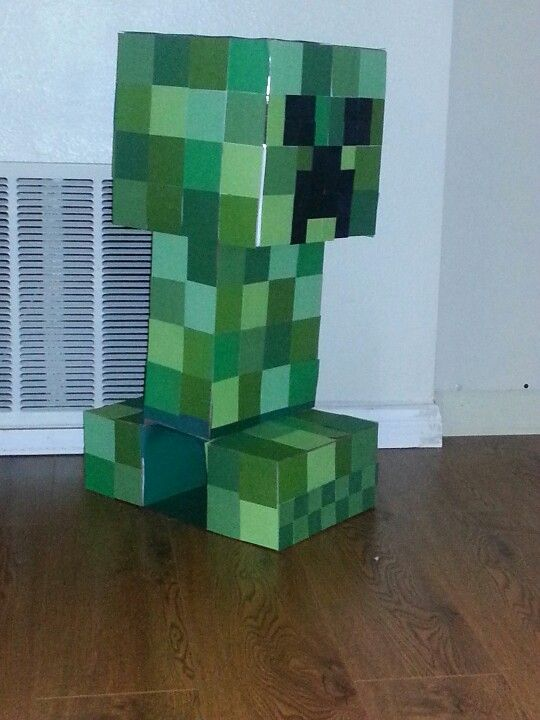 Minecraft creeper valentine's box