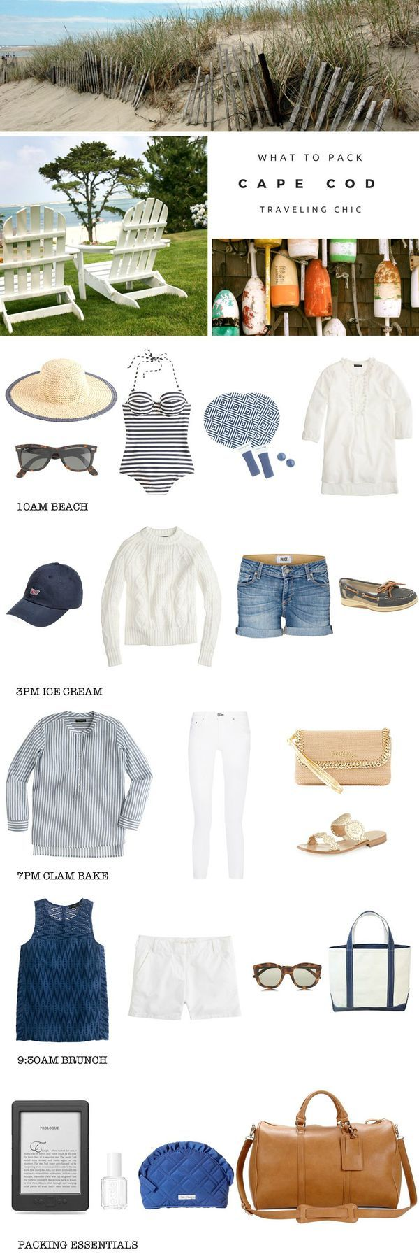 What to pack for a trip to Cape Cod, Massachusetts. The perfect packing list for a trip to New England and the beach. Covers everything you need to know about East Coast travel style.