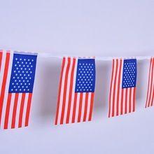 Hot Vender 20 pcs Corda Bunting Bandeira DOS EUA Da Bandeira Americana para o Dia Da Independência Decorar Acessórios Drop Shipping Venda Feliz ap621(China (Mainland))
