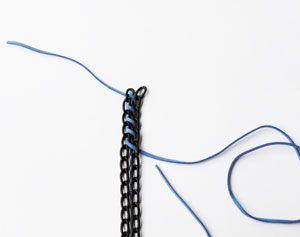 Zelf sieraden maken, zoals een stoere ketting (gewoon met metaal van de bouwmarkt). #sieraden #DIY