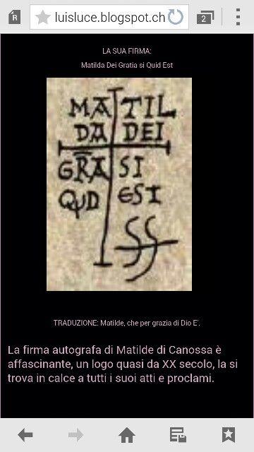 Firma di Matilde