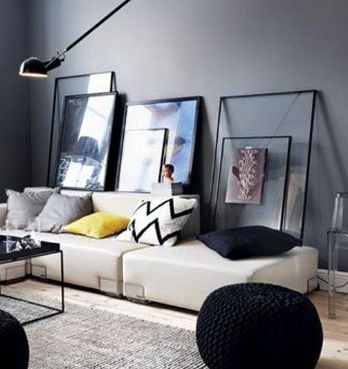 25 beste idee n over muur achter de bank op pinterest woonkamer planken appartement - Idee kleur living ...