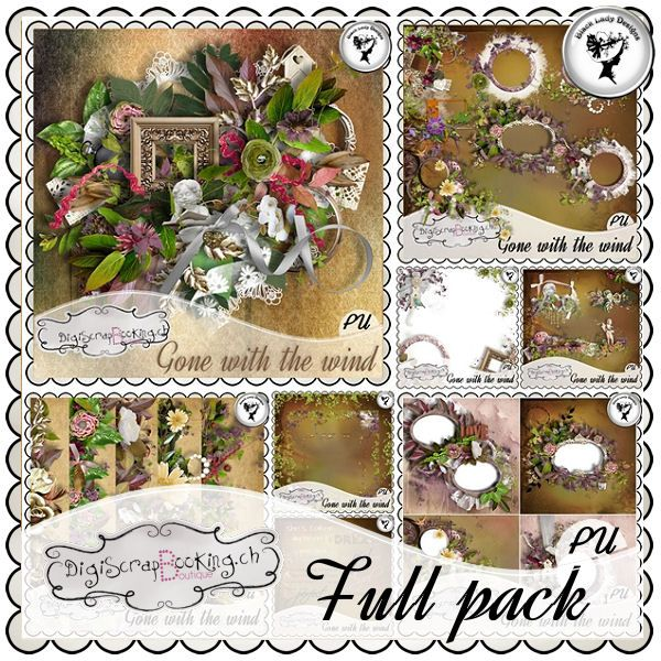 "Mega full pack ""Gone with the wind"" by Black Lady Designs"