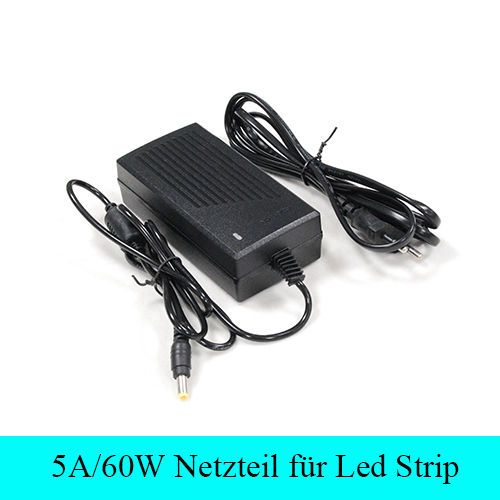5A 60W DC 12V Netzteil Trafo ju jhsz jsz ke Adapter 5m LED Strip e BAND Streifen