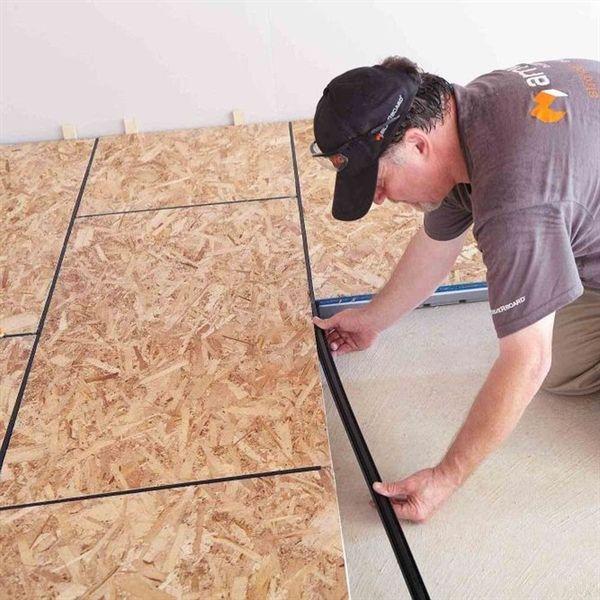 19 32 In X 2 Ft X 4 Ft R5 Insulated Osb Subfloor Panel Osb Floor Insulation Basement Subfloor