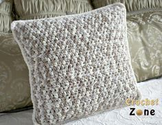 Neutral Crochet Pillow Pattern/ beginner / FREE CROCHET pattern/ really pretty - luv it!