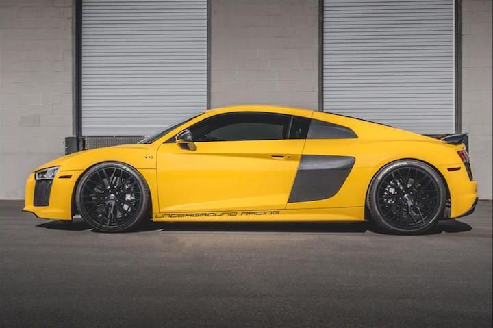 Never satisfied with performance figures that are merely impressive, Underground Racing has taken a crack at tuning the 2017 Audi R8. And the new figures are the definition of insane. This bright yellow R8 is the first of the second-generation models to receive a twin-turbo setup, and although they're