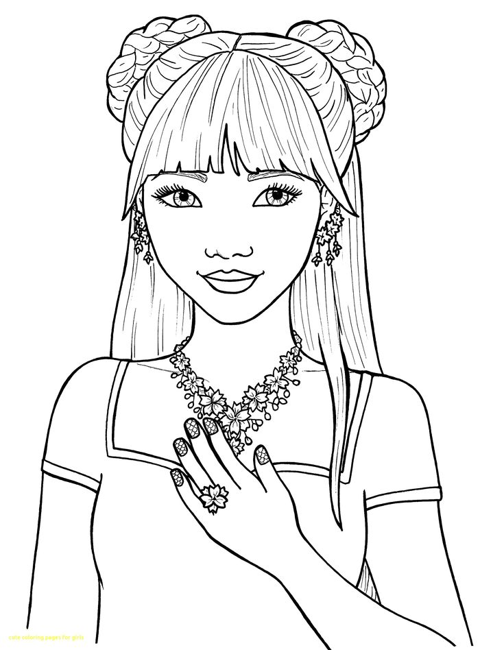 Cute Coloring Pages For Girls With Of Inside Teens Teenage -4153