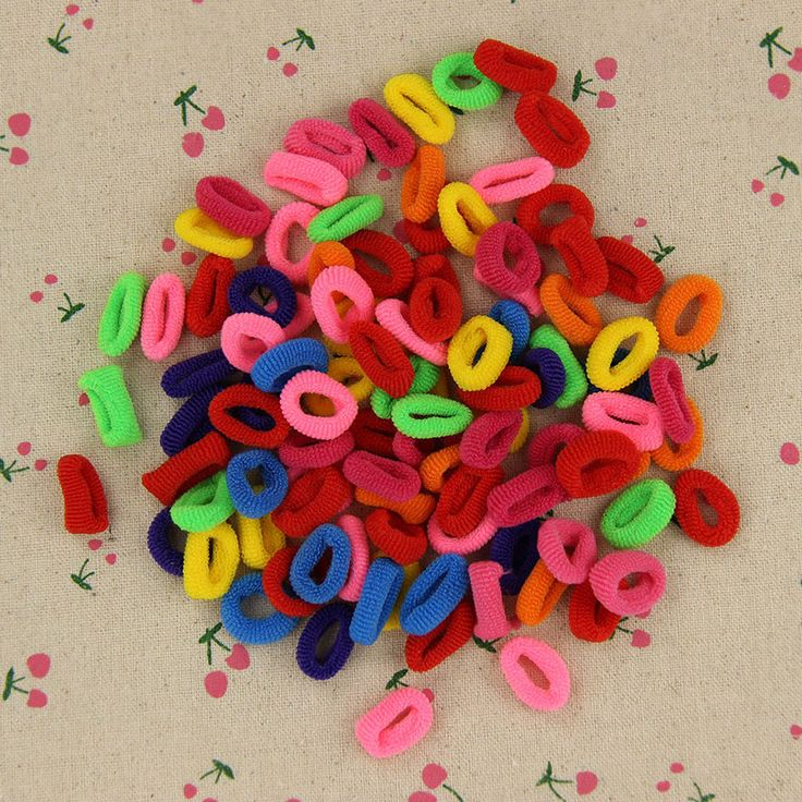 200 Unids Coloridos Titulares de Goma Lindo Niño Niños Pelo Banda de Pelo Accesorios Elásticos de La Muchacha de Las Mujeres Encantos Tie Gum