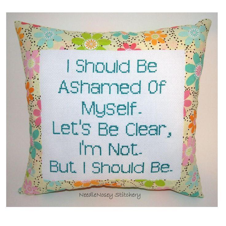 I should be....