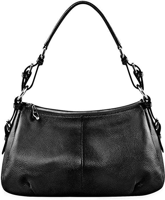 36815c4fa0 Amazon.com  S-ZONE Womens Hobo Genuine Leather Shoulder Bag Top-handle  Handbag Ladies Purses  Clothing