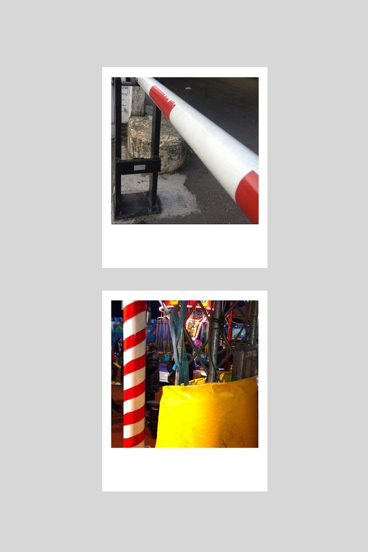"""""""Nel corso del tempo ho accumulato un'ampia collezione di dettagli che si possono trovare per strada: le barre dei passaggi a livello, la segnaletica nei cantieri, l'abbigliamento dei vecchi circhi..."""" // """"Over time I have amassed quite a collection of details that one can find on the street: railroad crossing gates, signage on construction sites, the apparel one finds in old circuses..."""" Alain Gilles  http://www.bonaldo.it/stripes/eng.html #bonaldolimitededition #stripes #tracks"""
