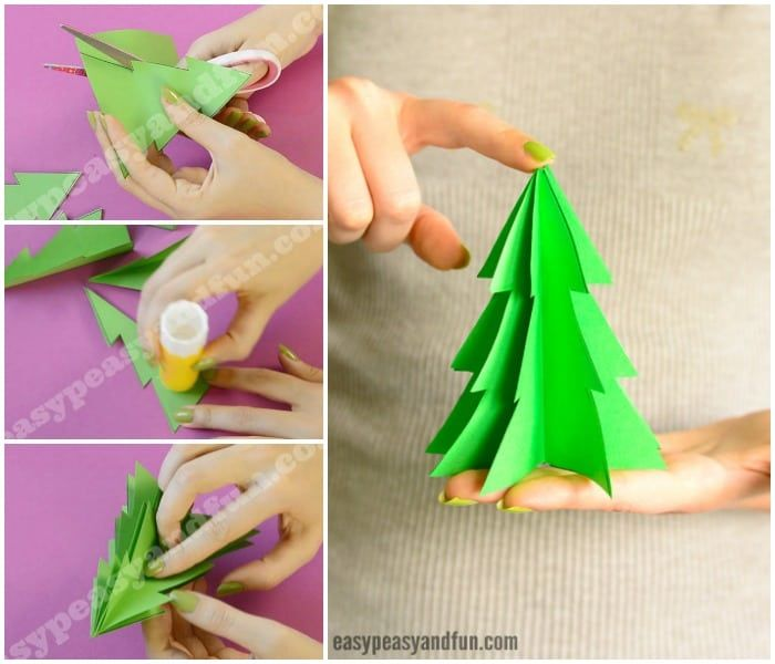3d Paper Christmas Tree Template Easy Peasy And Fun Paper Christmas Tree Christmas Tree Template 3d Christmas Tree
