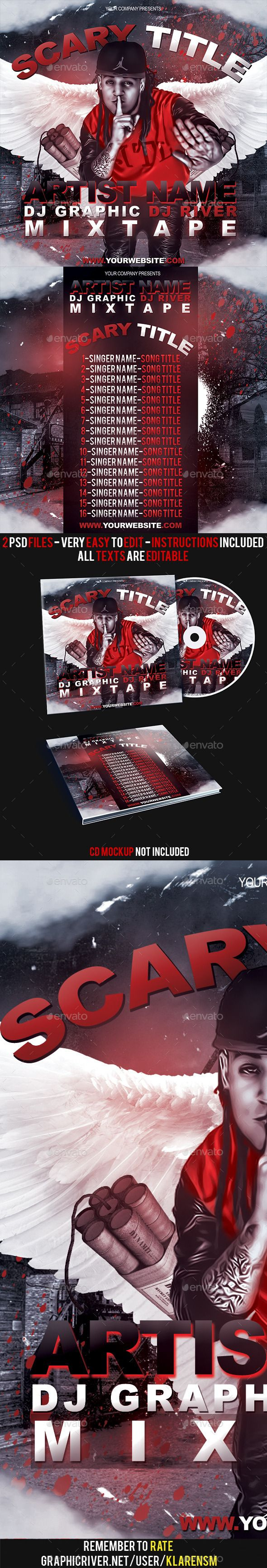 Red Hip Hop / Rap Mixtape Album CD Cover Template — Photoshop PSD #singer #covers • Available here → https://graphicriver.net/item/red-hip-hop-rap-mixtape-album-cd-cover-template/8813469?ref=pxcr
