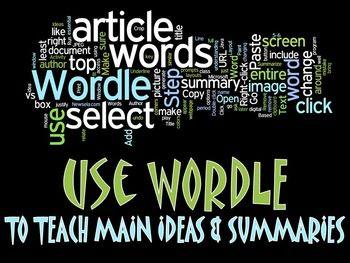 Downs and wordle writing about writing summary ideas