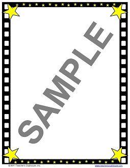 free hollywood border clip art hollywood filmstrip border paper