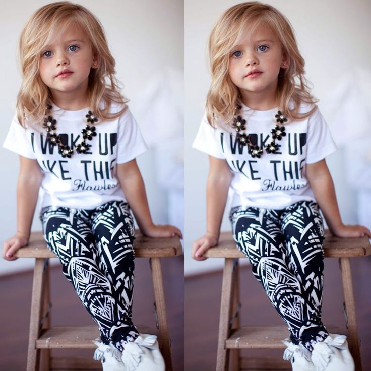 Material: Cotton Blend T-shirt Color: White Pants Color: White and Navy Blue Department Name: Children Girls Item: T-shirt and Pants Pattern: Letter Style: Fashion Collar: O-Collar Sleeve: Short Sleeve Pants Waistline: Elastic Pocket: No Design: Casual Tag. NO Height Age (Year) Shoulder Sleeve Bust Top Length Pants Waist Crotch Hip Pants length 90=3T 85-95 2-3 25 cm 9.8 inch 10 cm 3.9 inch 58 cm 22.6 inch 38.5 cm 15 inch 38-48 cm 14.8-18.7 inch 21.5 cm 8.4 inch 58 cm 22.6 inch 57 cm 22.2…