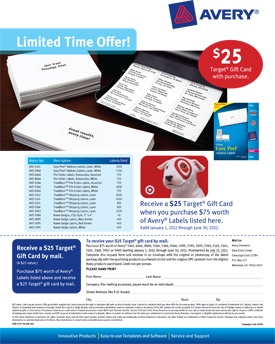 Here's a great AVERY promotion!: Avery Promotion, Save, Gifts