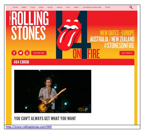 Rolling Stones Error 404: You can't always get what you want