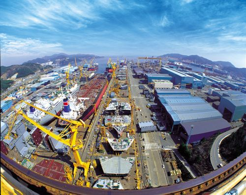Okpo Shipyard of Daewoo Shipbuilding & Marine Engineering