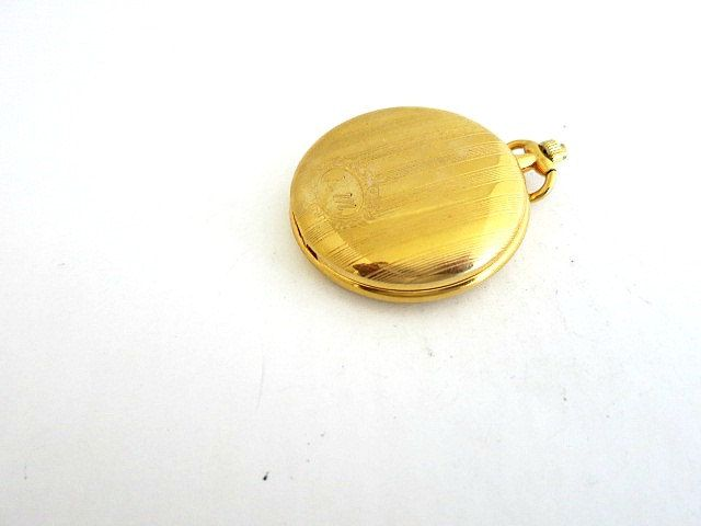 Colibri Pocket Watch Gold Tone Monogrammed by ediesbest on Etsy
