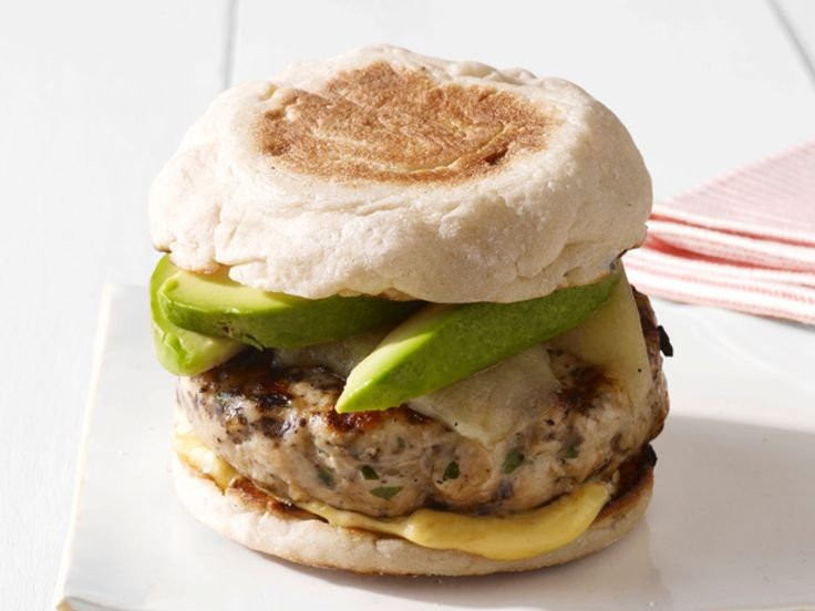 Perfect Turkey Burgers : Mix portobello mushroom into the turkey patty for added flavor. Then top with cheese and creamy avocado.