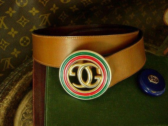48e4295cb Vintage Gucci Red Green Enamel Belt | KEKOA'S CORNER | Vintage gucci belt, Vintage  gucci, Fashion