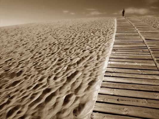 Vlies fotobehang Horizon - Strand behang | Muurmode.nl