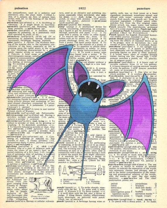 Zubat Pokemon Dictionary Art Print by MollyMuffinsPrints on Etsy