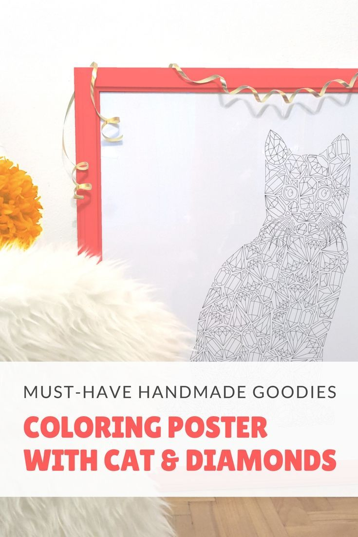 Something for the crazy cat lady in you and the scratched piece of naked wall, that has be covered ;) Customize the poster by coloring it with you favorite colors!
