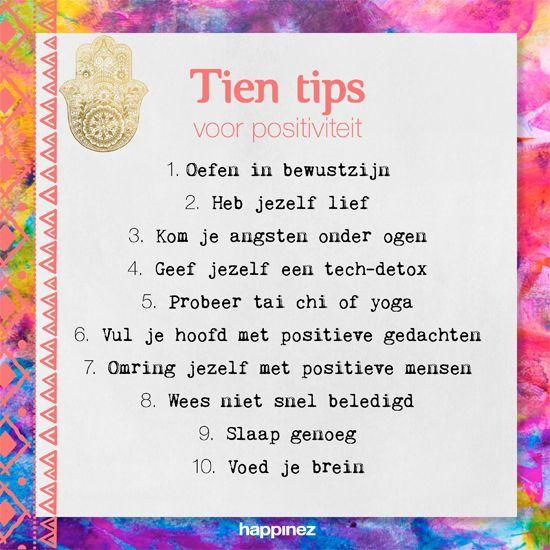 10 oefeningen in positief denken - Happinez