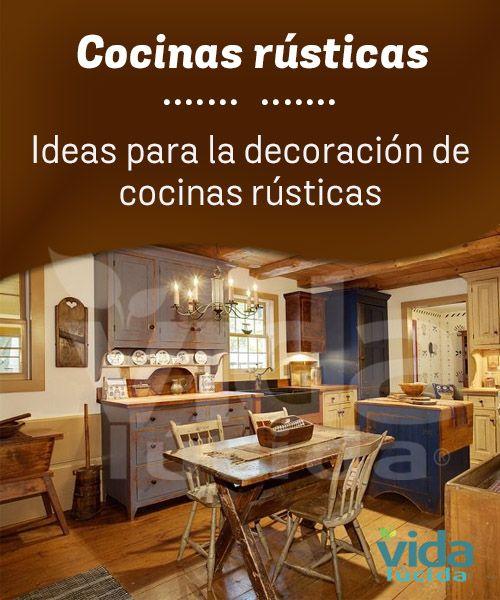 Ideas para decorar cocinas rústicas