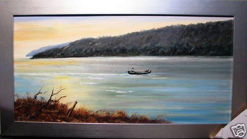 Johannes Karl Schulz oil titled  Hawkesbury River  NSW. Australia