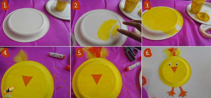Paper plate chicken instructions