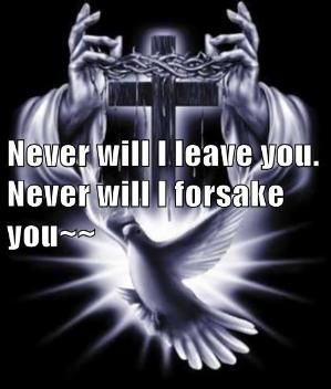 """HEBREWS  13:5 - 6   Never will I leave you;  never will I forsake you.""""   So we say with confidence,  """"The Lord is my helper; I will not be afraid.  What can mere mortals do unto me?"""" by lea"""